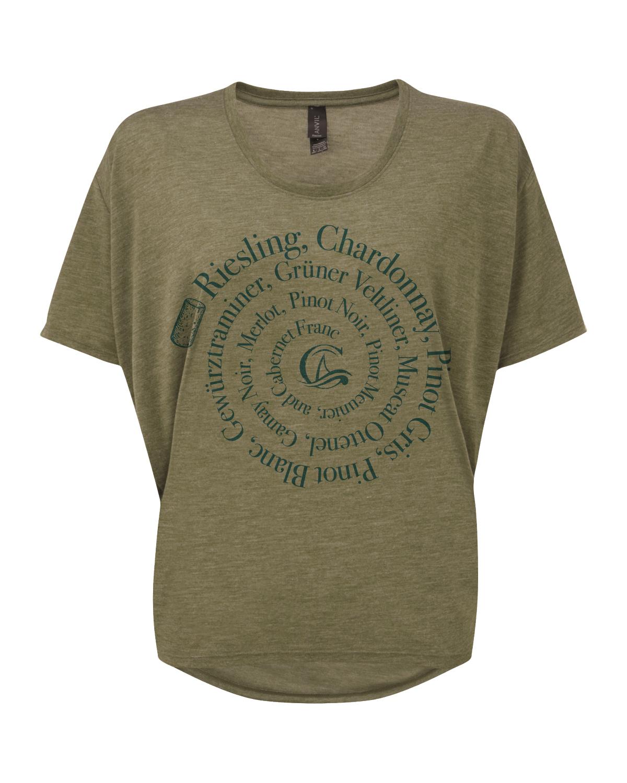 CGT Women's Varietal Spiral Tee- Olive